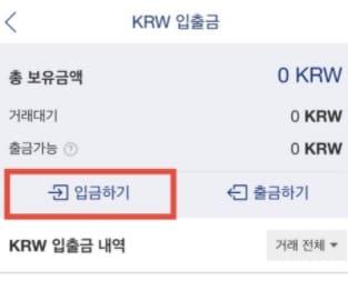 업비트 KRW 입출금